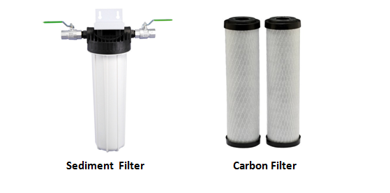 carbon filters in water purifier hozone