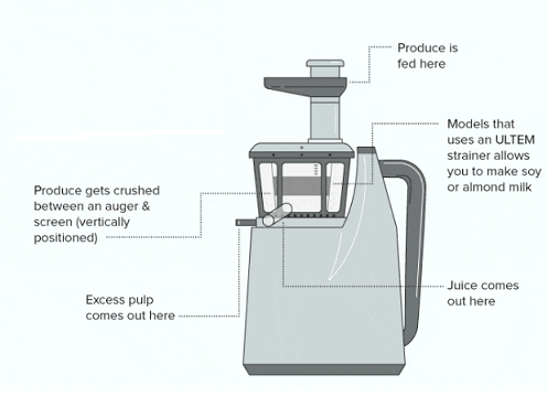 vertical cold press juicer
